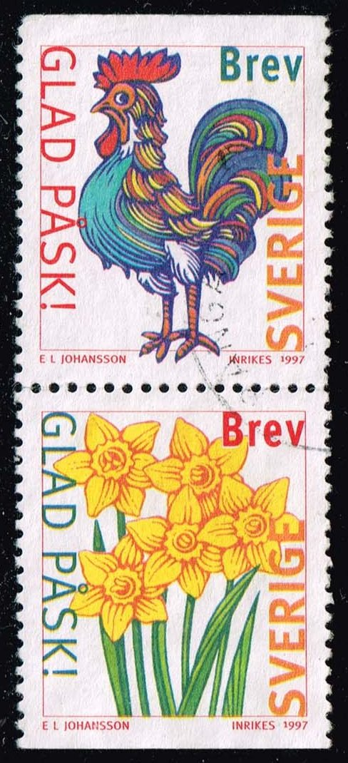 Sweden #2223-2224 Easter Pair; Used (1.10)
