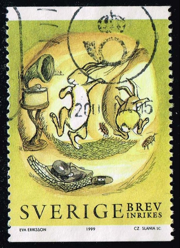 Sweden #2325 Rabbit Dancing to Music; Used (1.00)
