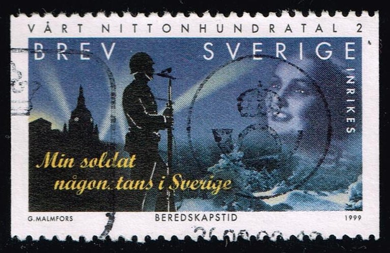 Sweden #2329 Silhouette of Soldier; Used (1.25)