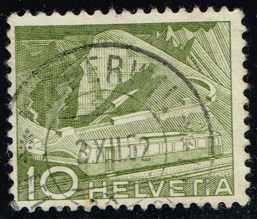 Switzerland #330 Mountain Railway; Used (0.25)