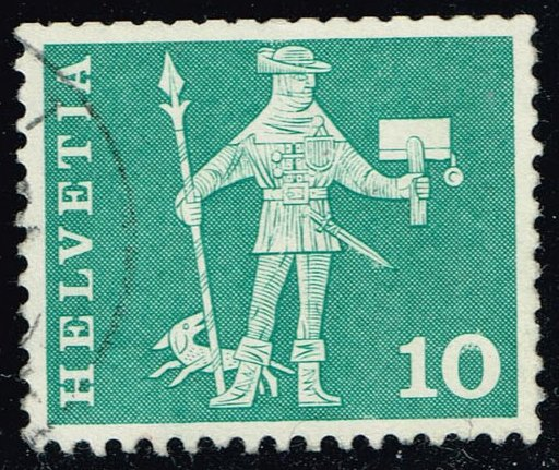 Switzerland #383 Messenger of Schwyz; Used (0.25)