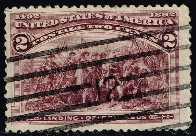 US #231 Landing of Columbus; Used (0.30)
