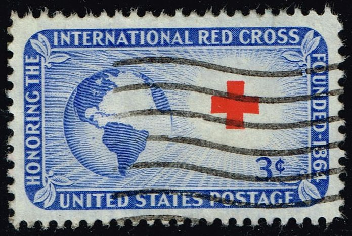 US #1016 Red Cross; Used (0.25)