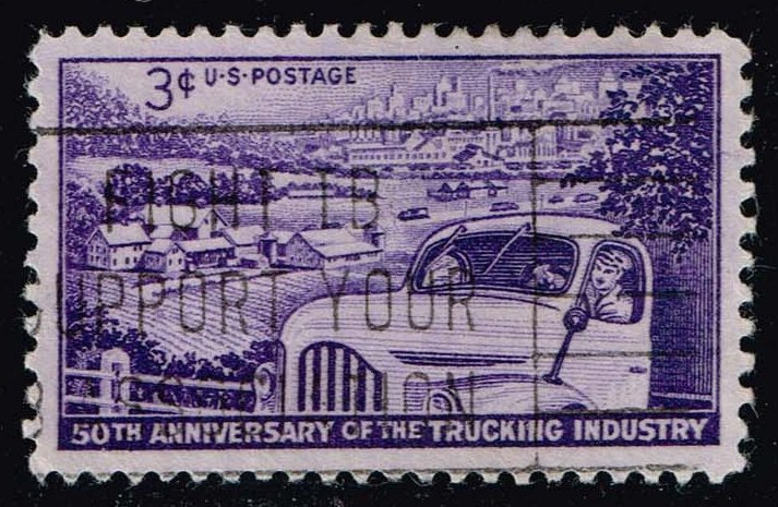US #1025 Trucking Industry; Used (0.25)