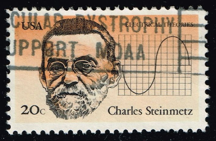 US #2055 Charles Steinmetz & Curve on Graph; Used (0.25)