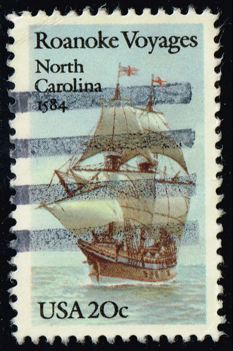 US #2093 Roanoke Voyages; Used (0.25)