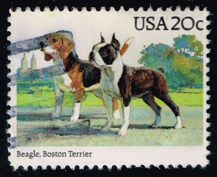 US #2098 Beagle & Boston Terrier; Used (0.25)