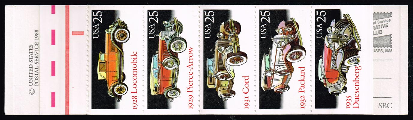 US #BK164 Classic Cars Booklet; MNH (25.00)