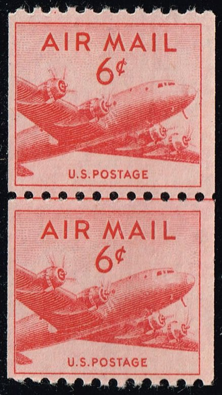 US #C41 DC-4 Skymaster Joint Line Pair; MNH (14.00)