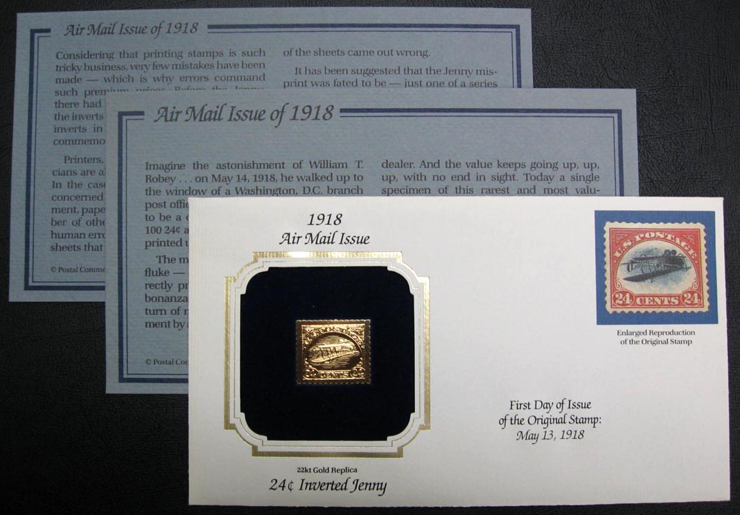 C3a Inverted Jenny Gold Replica - Collectible Cover