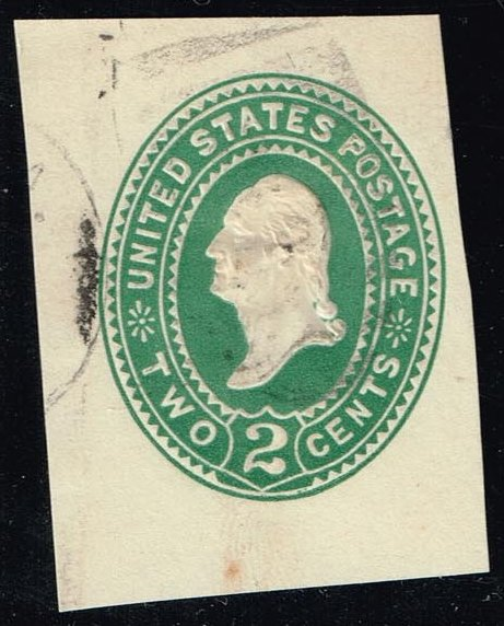 US #U311 George Washington; Used Cut Square (0.25)