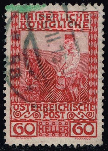 Austria #122 Franz Josef on Horseback; Used (0.25)