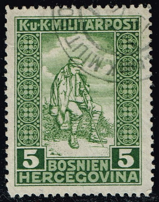 Bosnia-Herzegovina #B9 Wounded Soldier; Used (2.10)