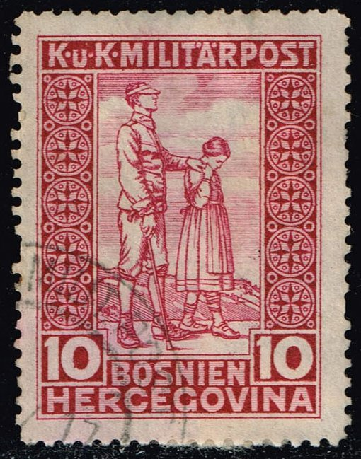 Bosnia-Herzegovina #B10 Blind Soldier; Used (3.00)