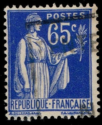 France #271 Peace with Olive Branch; Used (0.25)