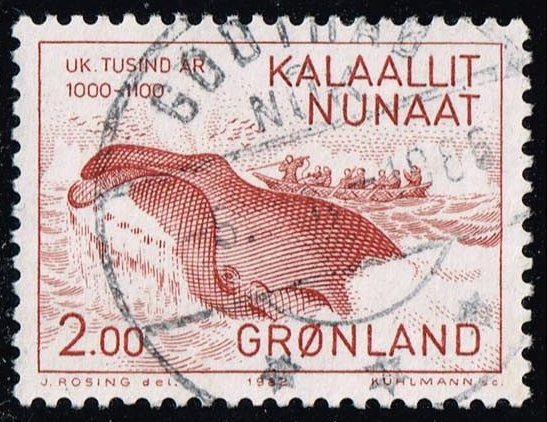 Greenland #148 Eskimos Catching Whale; Used (0.90)