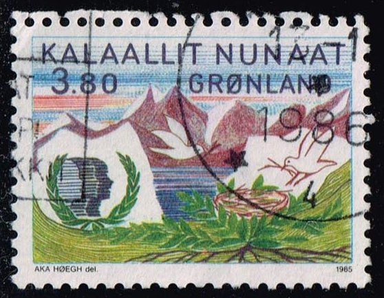 Greenland #163 International Youth Year; Used (1.40)