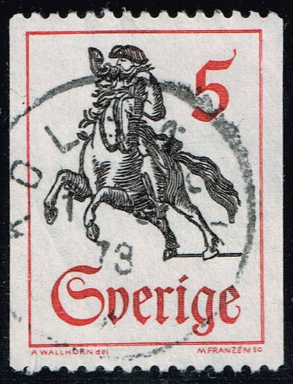 Sweden #737 Postrider; Used (0.25)