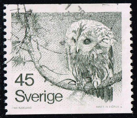 Sweden #1212 Tawny Owl; Used (0.40)