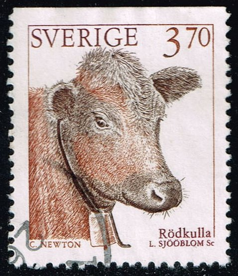 Sweden #2049 Red Polled Catle; Used (0.40)