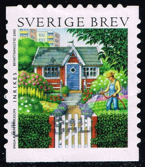Sweden #2511d Man Watering Garden; Used (1.50)