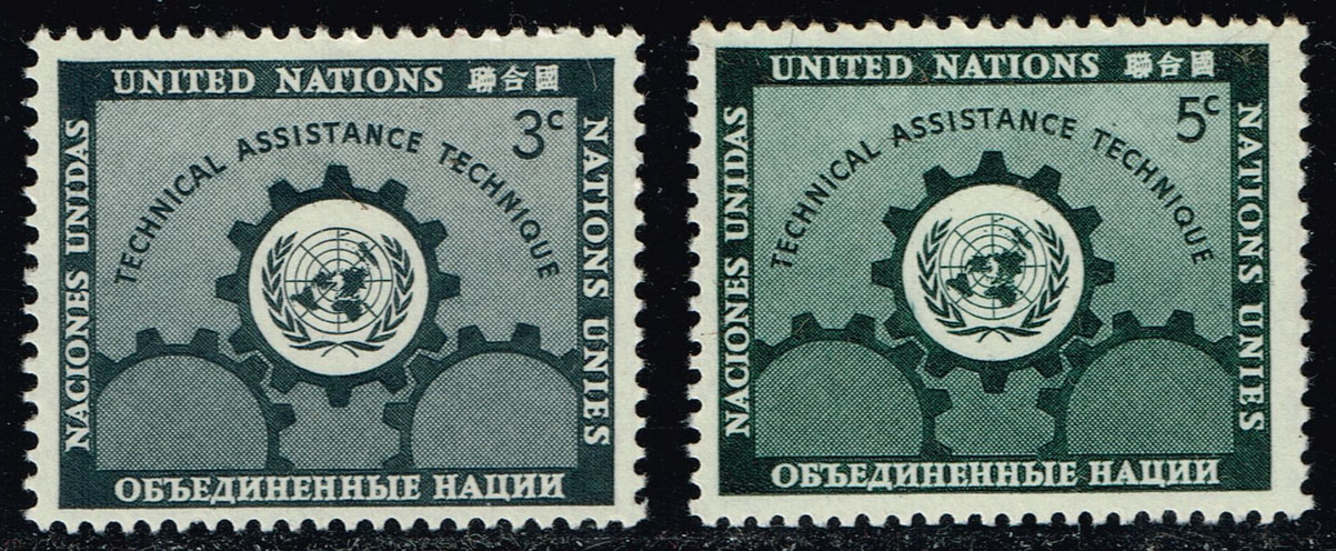 UN New York #19-20 Technical Assistance Set of 2; MNH (0.65)