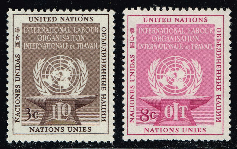 UN New York #25-26 ILO Set; MNH (1.25)