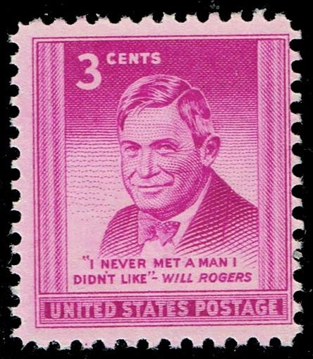 US #975 Will Rogers; MNH (0.25)