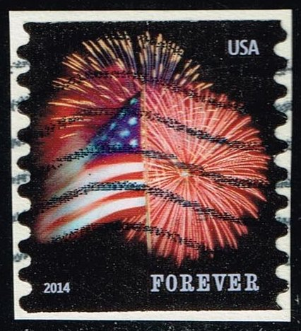 US #4853 Fort McHenry Flag and Fireworks; Used (0.25)