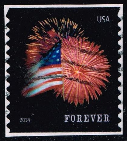 US #4868 Fort McHenry Flag and Fireworks; Used (0.25)