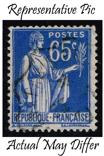 France #271 Peace with Olive Branch; Used at Wholesale