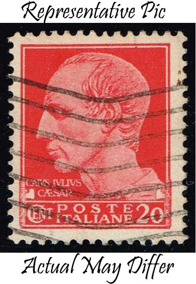 Italy #217 Julius Caesar; Used at Wholesale (0.25)