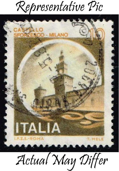 Italy #1409 Sforzesco Castle; Used at Wholesale (0.25)