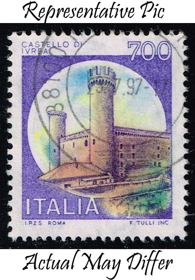 Italy #1428 Ivrea Castle; Used at Wholesale (0.25)