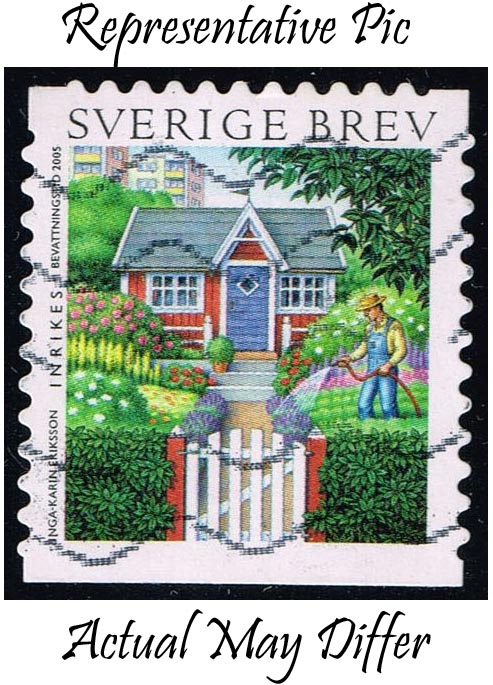 Sweden #2511d Man Watering Garden; Used at Wholesale (1.50)