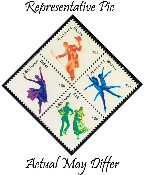 US #1752 American Dance Block of 4; MNH at Wholesale (1.00)